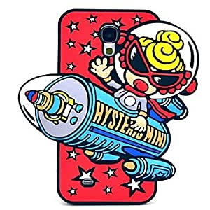 Mini - Astronauts in Space Pattern Silicone Soft Case for Samsung Galaxy S4 I9500