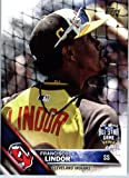 2016 Topps Update #US275 Francisco Lindor Cleveland Indians Baseball All-Star Card in Protective Screwdown Display Case