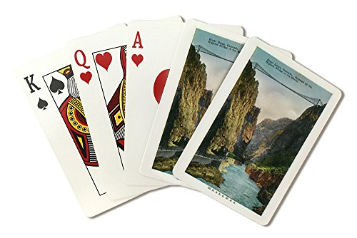Royal Gorge, Colorado - View of the Bridge and Denver and Rio Grand Railroad Train (Playing Card Deck - 52 Card Poker Size with Jokers)