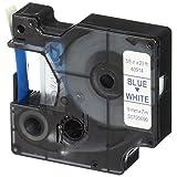 DYMO Standard D1 40914 Labeling Tape ( Blue Print on White Tape , 3/8'' W x 23' L , 1 Cartridge)