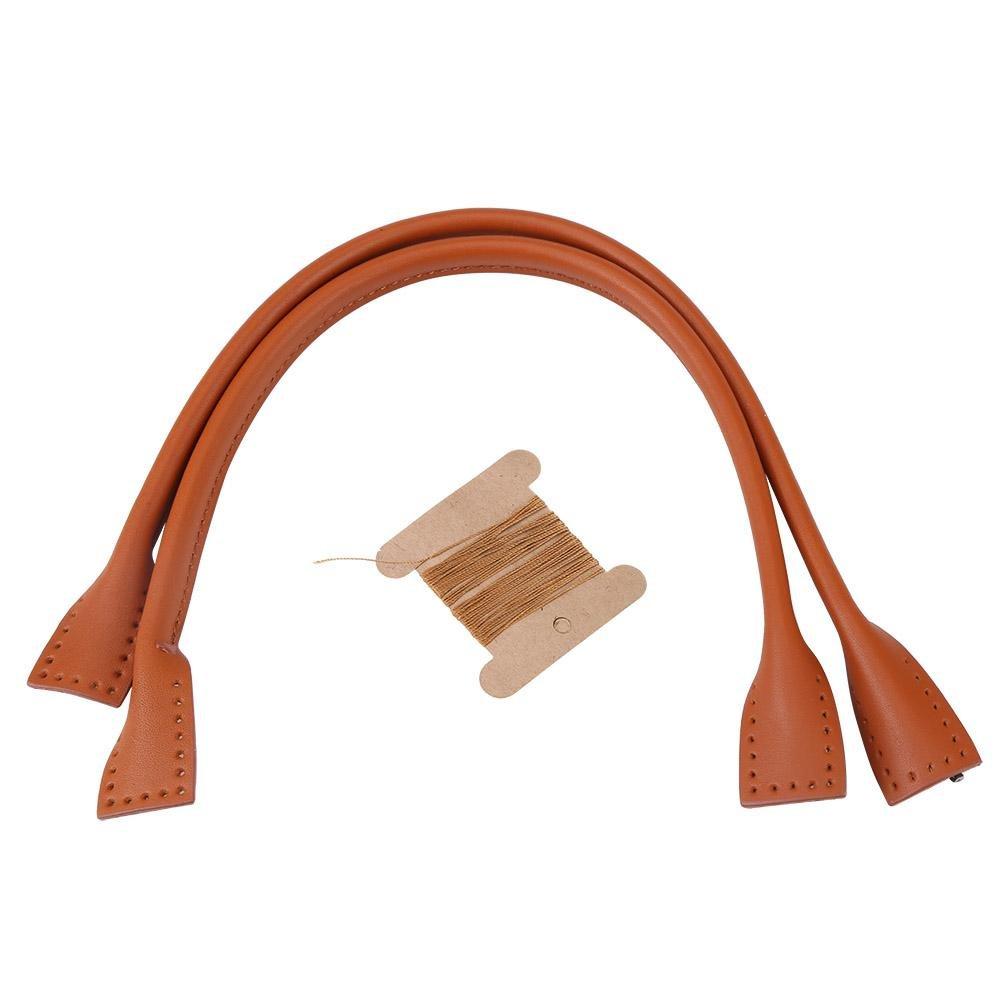 sangles de sac, sac à main en cuir véritable durable sangles poignée pour accessoires à main bricolage fil sac à main fabrication d'accessoires(brun) GLOGLOW