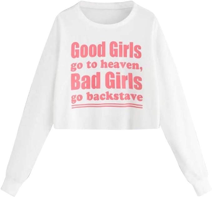 K-Youth Good Girls go to Heaven, Bad Girls go backstave Sudaderas ...