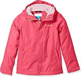 Columbia Kids' Big Boy's Fast and Curious Rain Jacket, Punch Pink Campin, XL
