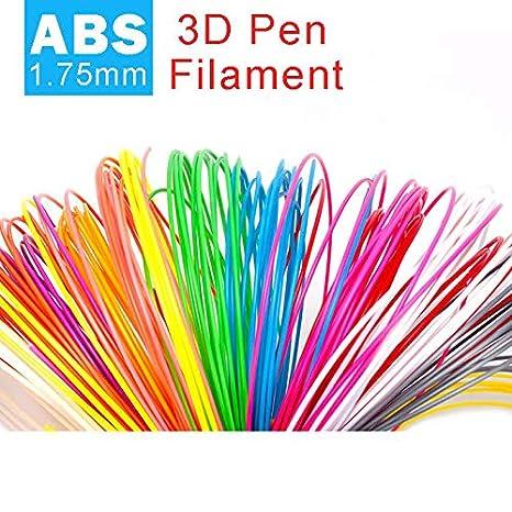 10 m x10 colores ABS Filamento de impresora 3d de material de 1.75 ...