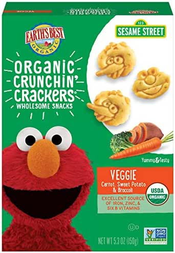 Baby & Toddler Snacks: Earth's Best Crunchin' Crackers