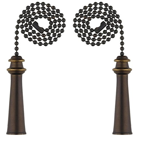 (Ciata Lighting Trophy Pull Chain, Oil Rubbed Bronze - 2 Pack)