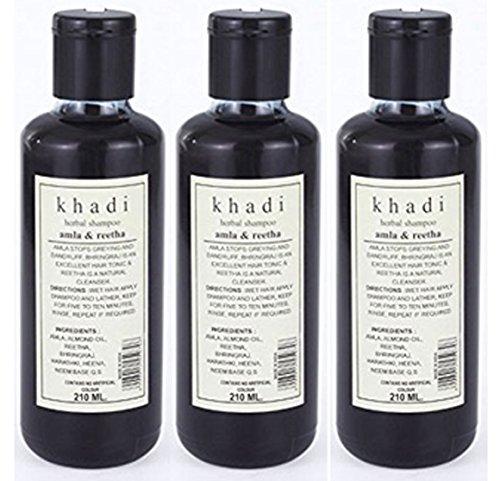Khadi Herbal Amla & Reetha Shampoo - 210 ml (Pack of 3)