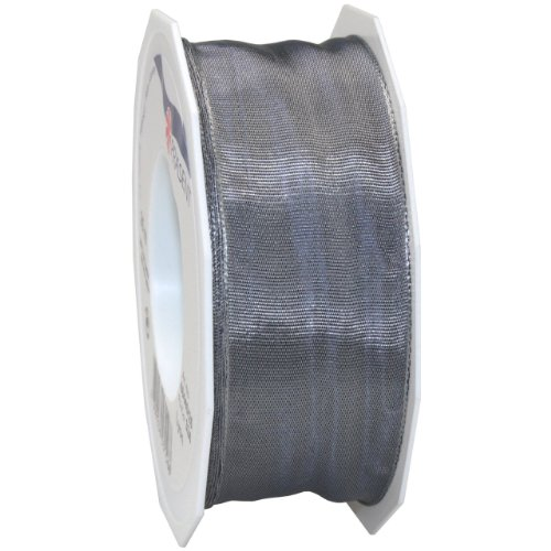 Pewter Swag - Morex Ribbon French Wired Lyon Fabric Ribbon, 1-1/2-Inch by 27-Yard, Pewter