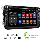 Plug&play Android 7.1.2 GPS Radio for VW Volkswagen Double Din DVD PLAYER Navigation HeadUnit Car Audio Stereo -Golf CC Passat Jetta Beetle Polo Sharan Tiguan Amarok Eos -2GB RAM/Back Camera/Free map/