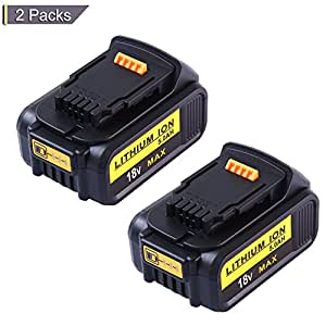 DCB205 Replacement for Dewalt 20V Max XR Battery 5.0Ah Lithium Ion DCB200 DCB201 DCB203 DCB204 DCB206 DCB207 High Capacity Cordless Power Tools (2Packs)