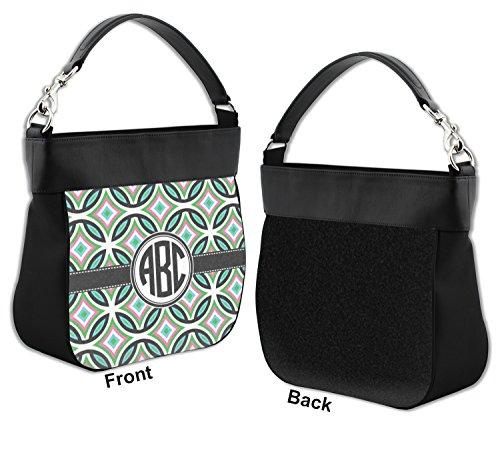 Leather Front Purse Geometric w Hobo Genuine Personalized Trim Circles qOBSxnwX