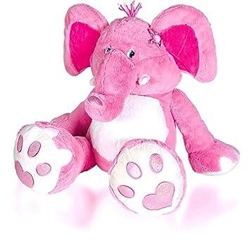 Elefante de peluche rosa