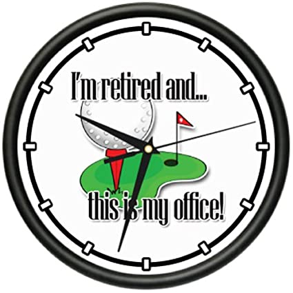 RETIRED 1 Wall Clock retiree retirement senior citizen work free old man gift