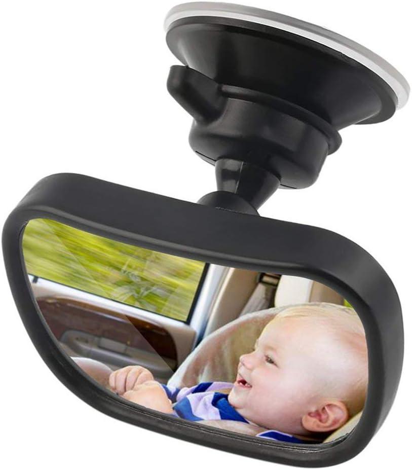 Jessicadaphne 2 in 1 Universal Einstellbare Kunststoff R/ückspiegel Autositz f/ür Baby Kindersicherheit Mit Clip und Saugnapf