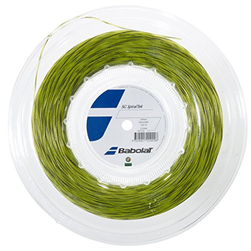Spiraltek Babolat REEL Tennis String (Yellow, 17G)