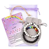 AMODAI Pet Memorial Bracelet Gifts for Pet Lost,Cat Dog Memorial with Rainbow Bridge Poem Card Remembrance in Memory of Cat Dog Sympathy Gifts(White)