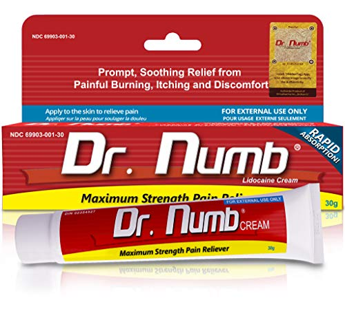 Dr. Numb 5% Lidocaine Topical Numbing Cream for Pain Relief
