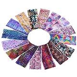 16 Pcs Starry Sky Nail Foils Animals Flowers