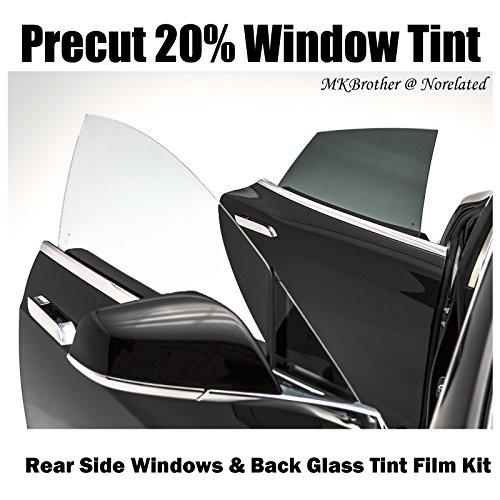 1998-2011 Ford Crown Victoria 20% VLT Black Computer Precut Rear Side Window + Back Glass Tint Film Kit