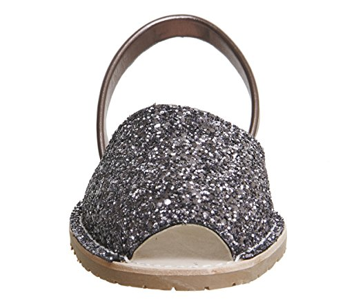 Solillas Original Women's Menorcan Sandals - Nubuck Leather Pewter Glitter Leather 9SRZkRu5q1