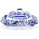 Spode Blue Italian Vegetable Dish and Cover, 12""