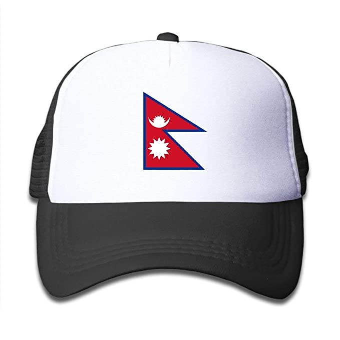 JHDHVRFR Elephant AN Flag Map of Nepal Mesh Baseball Cap Kid Boys ...