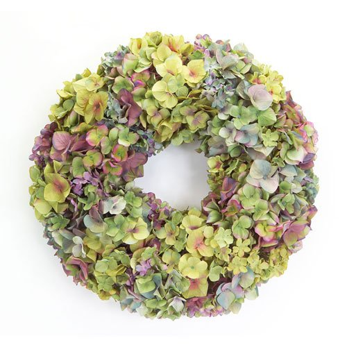 Melrose International Hydrangea Wreath, 20-Inch, Mixed
