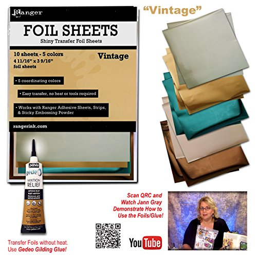 Vintage Foil Sheets (10 Sheets - 5 Colors)