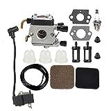 Milttor C1Q-S186 FS85 Carburetor Ignition Coil Fit 4140-120-0619 Stihl FS75 Trimmer FS80 FS80R FS85R FS85T FS85RX FC85 FC75 HL75 HT70 HT75