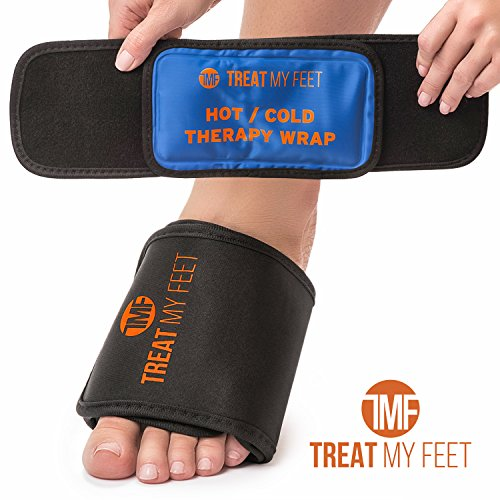 Hot/Cold Therapy Foot Arch Wrap - Instant Relief for foot pain, strains and sprains, soothing compression therapy easing swollen, painful feet - perfect for runners, athletes and plantar fasciitis (Wraps Soothing Foot)