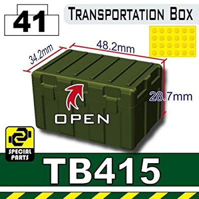 Tank Green TB415 Military Transit Box Compatible with Toy Brick Minifigures: Toys & Games