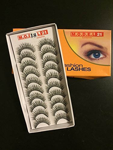 MODEL 21 False Fashion Eyelashes No. 1, 8, 12, 18, 19, 26, 27, 29, 37 (10 Pairs)