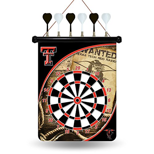 NCAA Texas Tech Red Raiders Magnetic Dartboard Magnetic Dartboard Nfl Darts