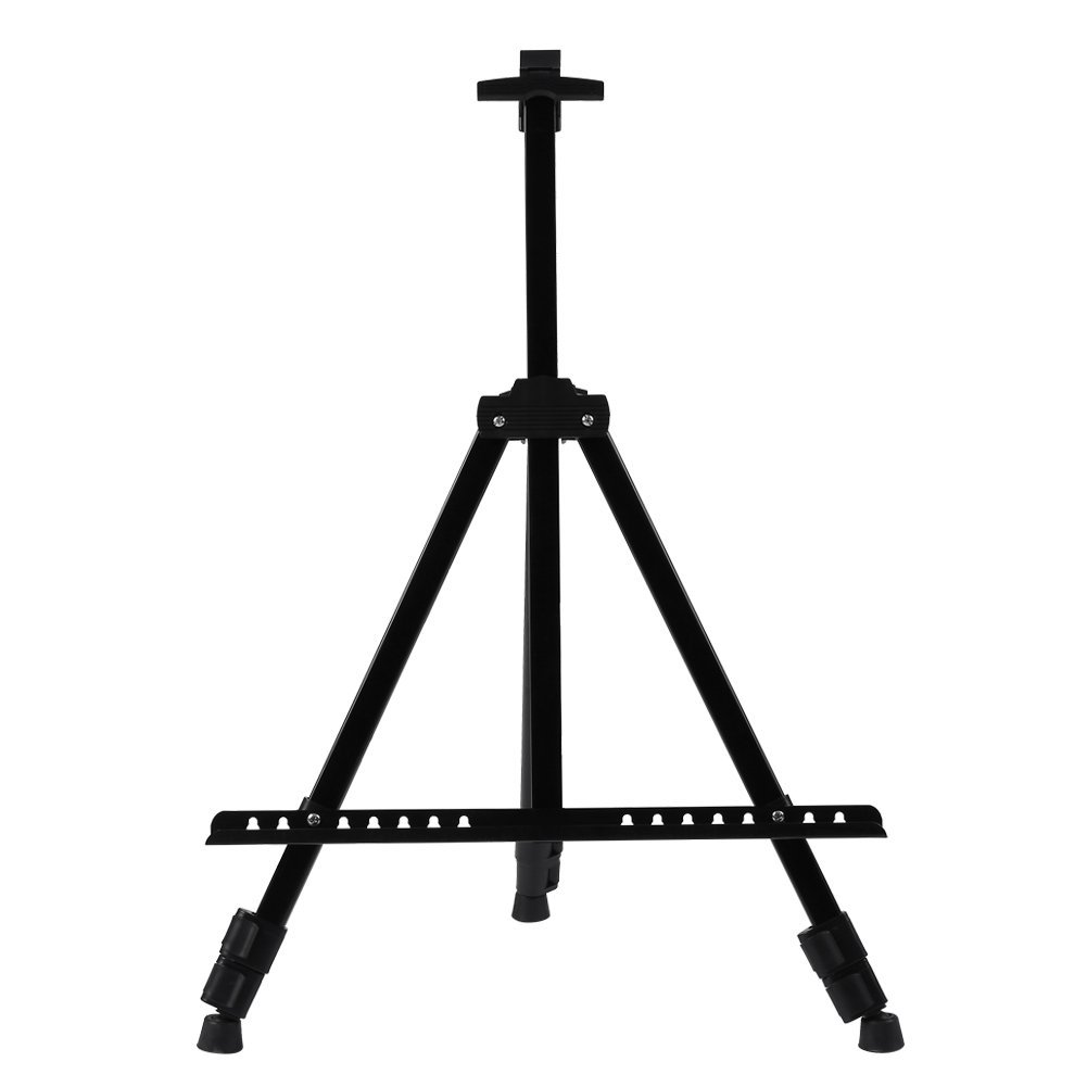 Artist Easel Stand,Metal Tripod Display Easel 21 to 66 Adjustable Height with Portable Bag for Drawing, Displaying and painting Wal front