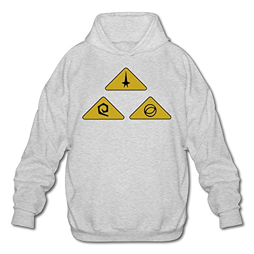 XJBD Men's Star Trek Sweater Ash Size XXL