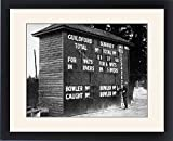 Framed Print of Cricket Scoreboard at Guildford, Surrey, 1938
