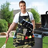 Grill Sergeant BBQ Apron Ultimate Camo Grilling Belt Pockets Tools Gift For Dad
