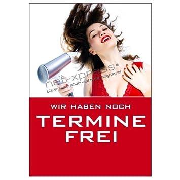 Friseur Plakat Wir Haben Noch Termine Frei A1 Werbeplakat Poster