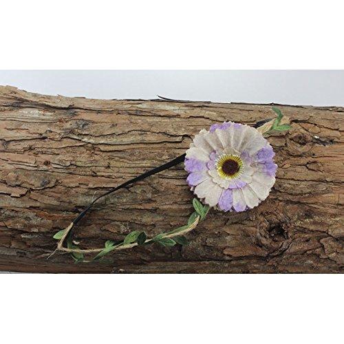 Bandeau Fleuris Modele Fleur Unique Creme Et Lavande Amazon Co Uk
