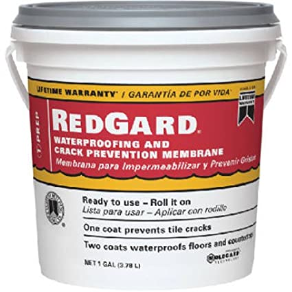 custom bldg products lqwaf1 2 redgard waterproofing 1 gal