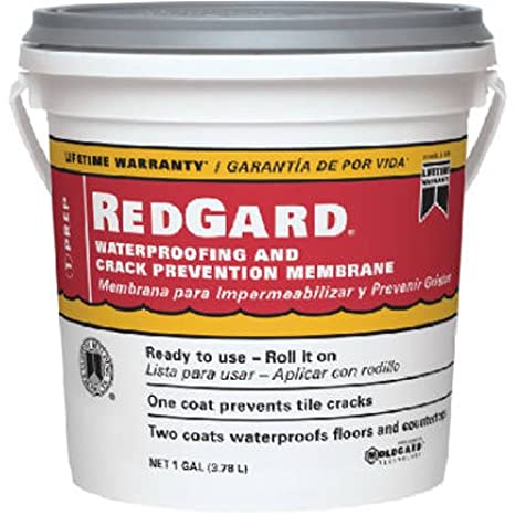 How to install redgard waterproofing and crack prevention membrane.