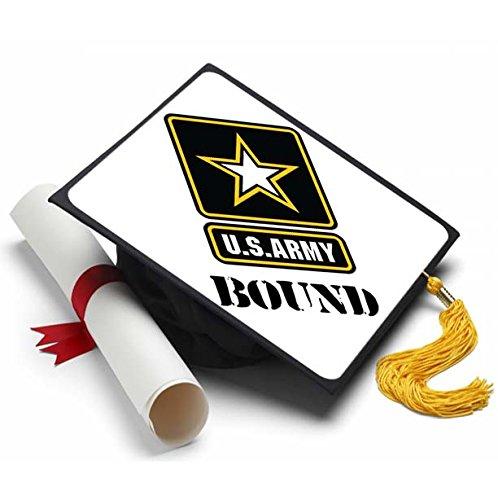 Tassel Toppers Army - Graduation Caps For Future Army Recruits - US Army Decorated Grad Caps (Army Bound)