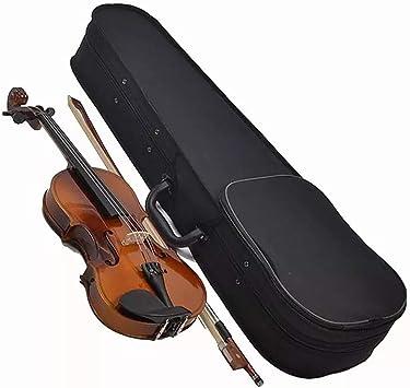Violín 4/4 es Adecuado para Principiantes. Instrumentos de Cuerda para violín. Estudiantes con Cuerdas, Estuche de violín.: Amazon.es: Deportes y aire libre