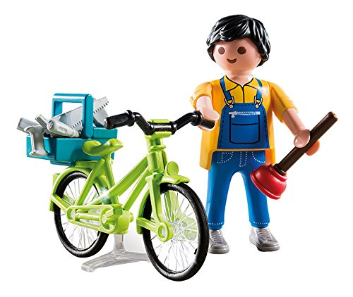 Playmobil-4791-Playmobil-Fontanero-con-bicicleta-4791
