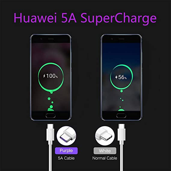 JUANDU USB C Cable USB Type C Cable Fast Charger Data Sync Transfer Suitable for Huawei P20//P10//P30//P9 Samsung Galaxy S10//S9//S8,Black,1M