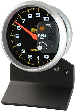 AutoMeter 19598 Gauge Tachometer Pro-Cycle 3 3//8, 10K RPM, White, Pro-Cycle