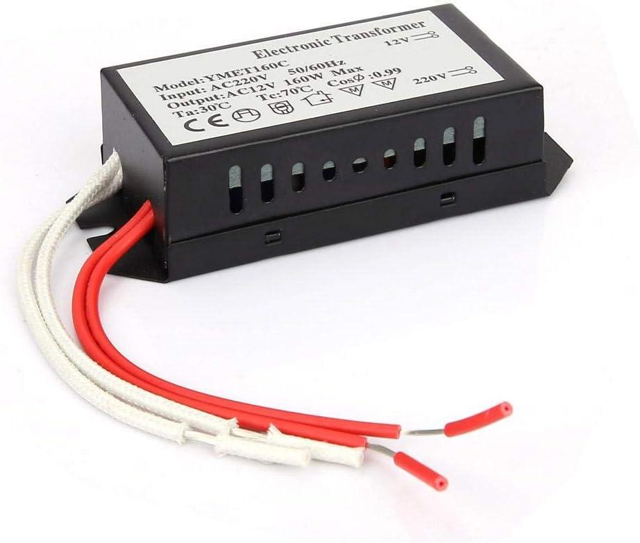 Iluminación HC - Transformador electrónico - Entrada de 220 voltios/Salida de 12 voltios - Controlador inteligente de fuente de alimentación(160W)