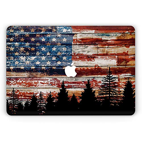 Vintage USA Flag Macbook 12 Cover Patriotic Gift idea for US Veteran USA flag Air 13 inch Case Pro 13 15 2016, 2018 Cases A1932, 1989, a1706 a1502 a1707