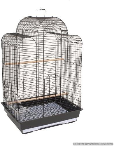 Jaula de Pájaros negro Bijou Budgie Canario Lovebirds Finches ...