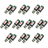 iSmart 10 Pair (20 Pcs) Mini CCTV BNC Video Balun Transceiver, Video Passive Balun for HD-TVI/CVI/AHD/Analog/960H Camera IB1015